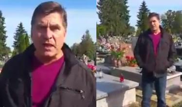 """""""Spot wyborczy"""" lidera Bayer Full: """"Jestem na cmentarzu. Do 67. roku życia mało kto dożył!"""""""