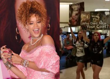 Rihanna ZAATAKOWANA przez obrońców zwierząt! (WIDEO)