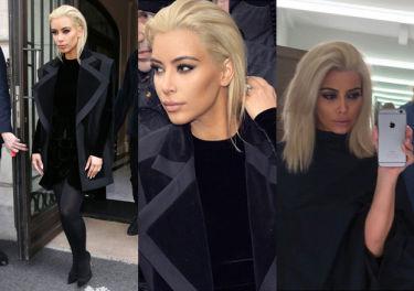 Kim Kardashian chwali się blond fryzurą! (FOTO)