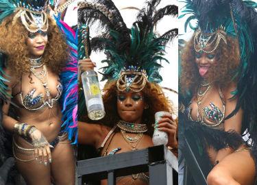 Rihanna imprezuje podczas imprezy na Barbados (ZDJĘCIA)
