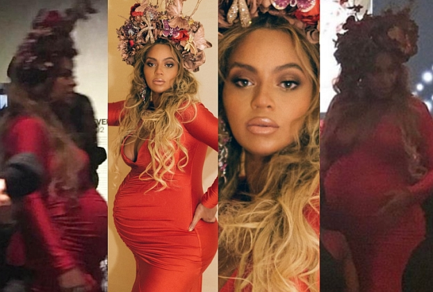 Wielki brzuch (i WIELKIE USTA) Beyonce na Wearable Art Gala (FOTO)