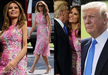 Donald i Melania w stylizacji za 10 tysięcy złotych na spotkaniu z wyborcami w Ohio (ZDJĘCIA)