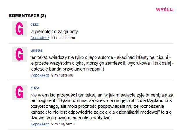 """Polskie """"Glamour"""" o Ukrainie: """"MODNE REWOLUCJONISTKI NA MAJDANIE"""""""
