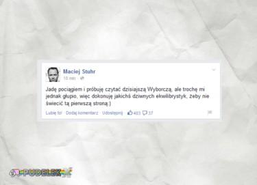 Maciej Stuhr wstydzi się