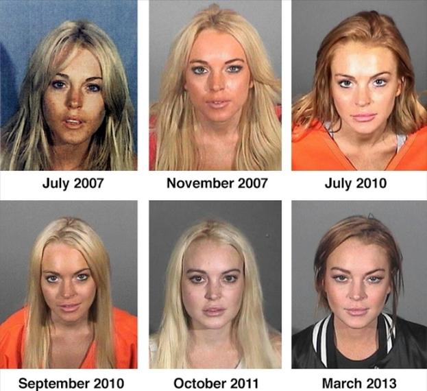 Wszystkie policyjne zdjęcia Lindsay!