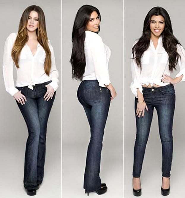 Wielkie tyłki Kardashianek w dżinsach! (<b>ZDJECIA</b>)