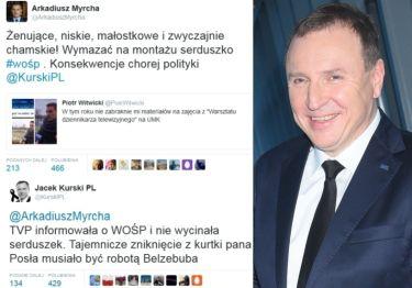 """Kurski o serduszku WOŚP: """"Zniknięcie musiało być robotą Belzebuba"""""""