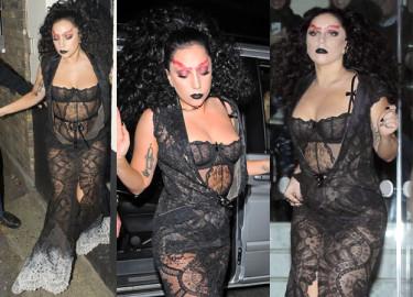 Gaga w koronkach w Londynie! Znowu przytyła? (ZDJĘCIA)