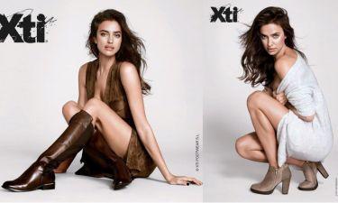 Irina Shayk odsłania nogi w kampanii butów (GALERIA)