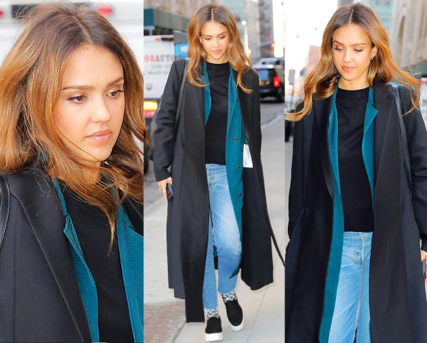 #TRENDY: Jessica Alba w długim płaszczu
