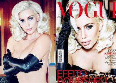 Kim Kardashian topless na okładce