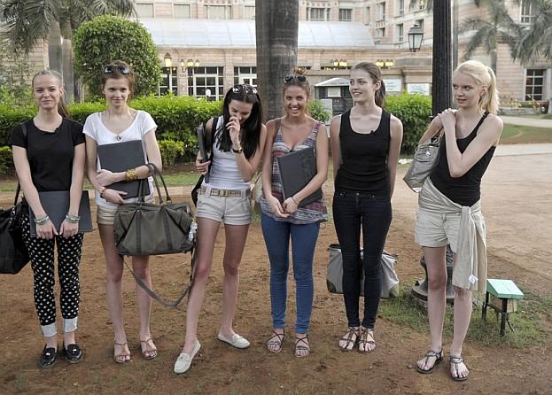 """Uczestniczki """"Top Model"""" w Indiach! (ZDJĘCIA)"""