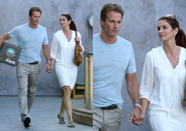 Cindy Crawford na spacerze z mężem (ZDJĘCIA)