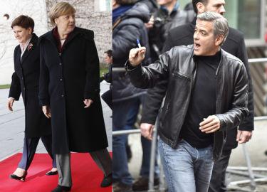 """Clooney spotkał się z… Angelą Merkel! """"WYRAZIŁ CAŁKOWITE POPARCIE dla jej polityki azylowej"""""""