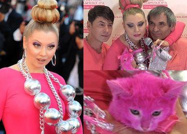 Rosyjska celebrytka ZAFARBOWAŁA KOTA na różowo! Nie przeżył...