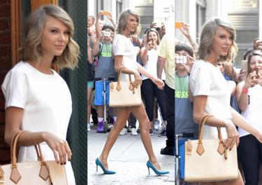 Taylor Swift pokazuje nogi w Nowym Jorku! (ZDJĘCIA)