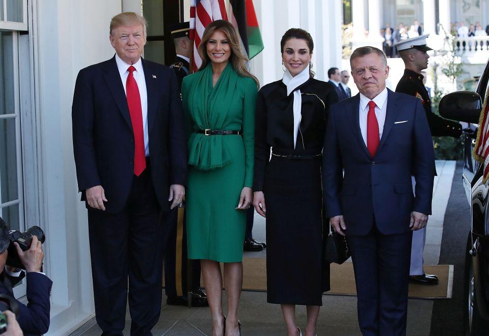 Trumpowie spotkali się z jordańską parą królewską