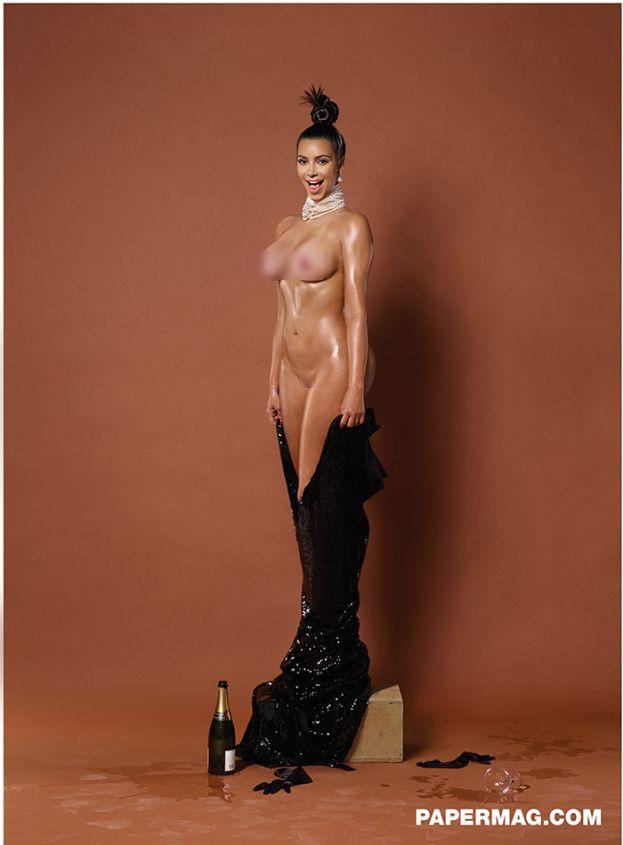 Kim Kardashian POZUJE NAGO pierwszy raz po porodzie! (FOTO)