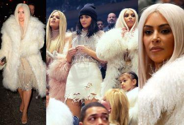 BLOND Kim z całą rodziną W FUTRACH na pokazie Kanye Westa! (ZDJĘCIA)
