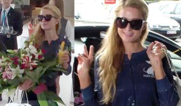 Paris Hilton pozdrawia paparazzi!