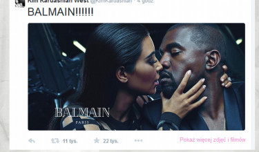 Kim i Kanye w nowej kampanii BALMAIN! (FOTO)