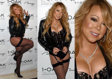 46-letnia Mariah Carey w gorsecie i pończochach! SEKSOWNA? (ZDJĘCIA)