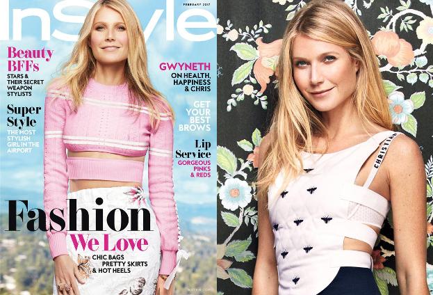"""Wygładzona Gwyneth Paltrow na okładce """"InStyle"""""""
