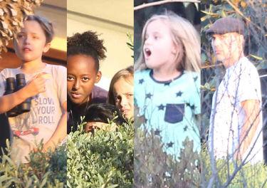 Dzieci Angeliny i Brada ukryte przed ojcem w willi w Malibu... (ZDJĘCIA)