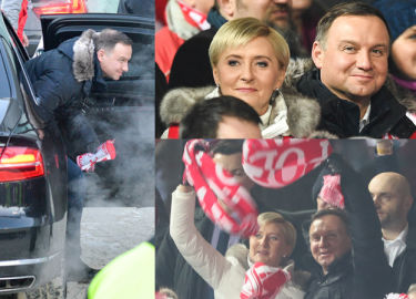 Andrzej i Agata Duda kibicowali polskim skoczkom w Zakopanem (ZDJĘCIA)
