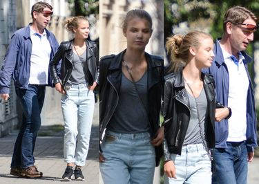 Tomasz Lis spaceruje z córką-modelką (ZDJĘCIA)