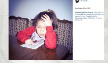 Aleksandra Kwaśniewska na zdjęciu z młodości