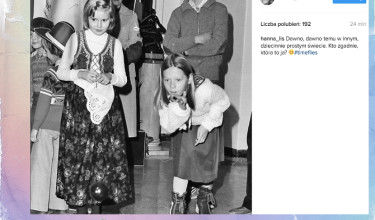 Hania Lis na zdjęciu z dzieciństwa