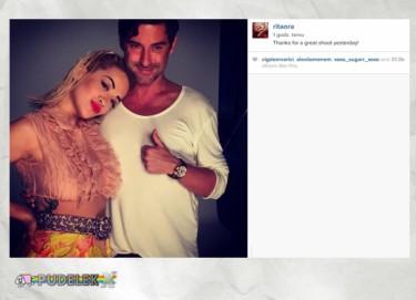 Rita Ora pozuje z Marcinem Tyszką
