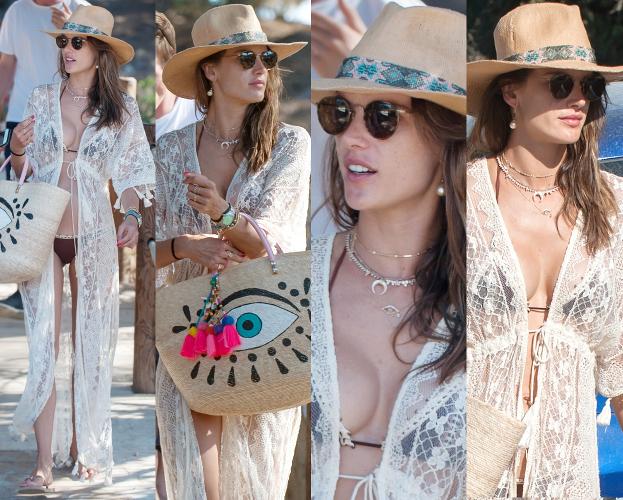 #TRENDY: Alessandra Ambrosio w plażowej stylizacji