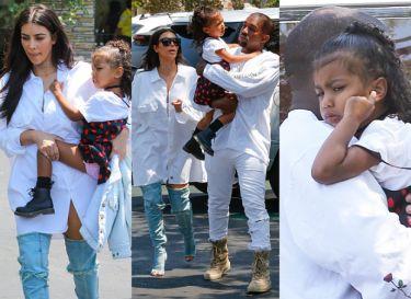 "Kanye, Kim i North idą do kina ""cali na biało"" (ZDJĘCIA)"