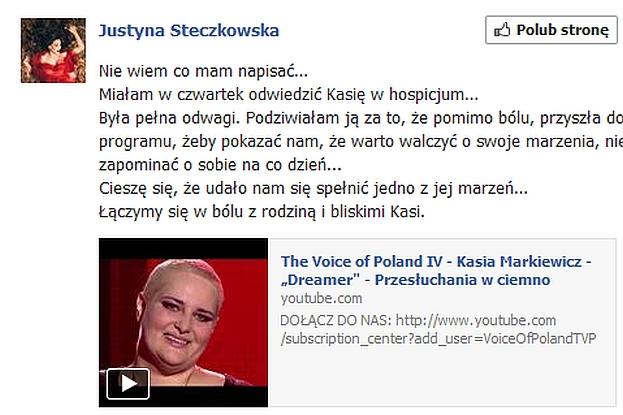 Steczkowska rozpacza PO ŚMIERCI FANKI!