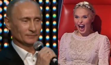 Putin śpiewa w rosyjskim