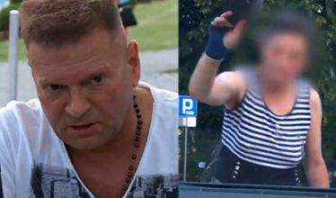 Żebraczka atakuje auto Rutkowskiego:
