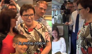 Ewa Kopacz jedzie Pendolino i zaczepia pasażerów: