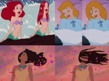 Gdyby bohaterki z bajek Disneya miały realistyczne włosy... (ZDJĘCIA)