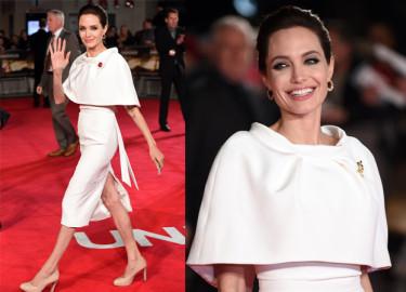 Angelina Jolie SAMA NA PREMIERZE, po kłótni z Bradem! (ZDJĘCIA)