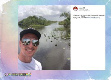 Arek Milik w poszukiwaniu krokodyli