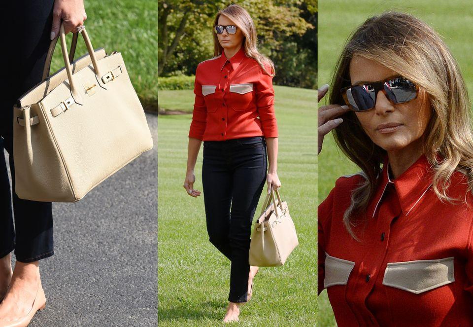 Melania Trump z torebką za 40 tysięcy wraca z Camp David