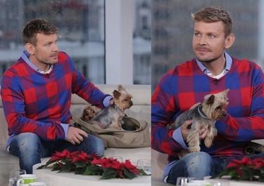 Dawid Woliński z psami w