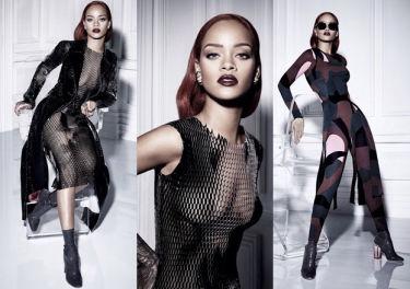 Rihanna pozuje dla Diora w sukience z siatki (FOTO)