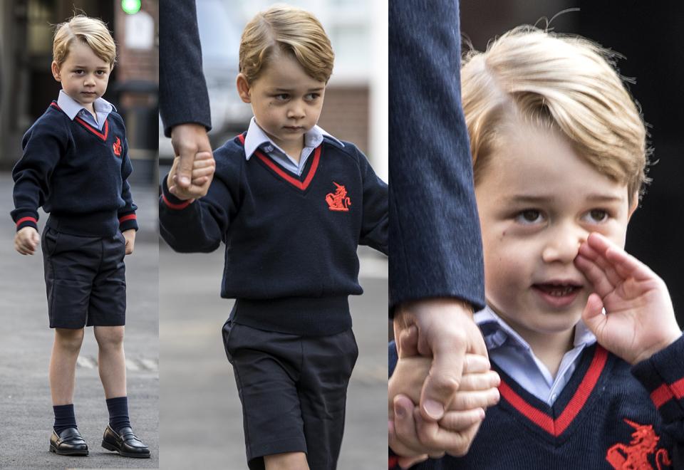 Książę Jerzy idzie do szkoły