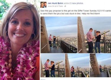Amerykanka szuka pary, która zaręczyła się na Wieży Eiffela! (FOTO)