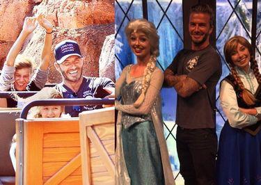 Beckhamowie na rodzinnej wycieczce w Disneylandzie (ZDJĘCIA)