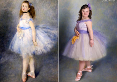 Dzieci z zespołem Downa pozują jak na starych obrazach (GALERIA)